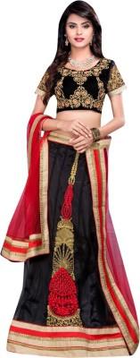 Diva Divine Embroidered Women's Lehenga, Choli and Dupatta Set