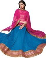 Desi Butik Chaniya, Ghagra Cholis - Desi Butik Embroidered Women's Lehenga, Choli and Dupatta Set(Stitched)