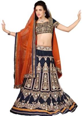 Shyam Fab Self Design Women's Lehenga, Choli and Dupatta Set