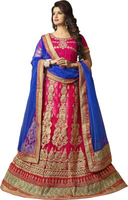 Aryagarment Embroidered Women's Lehenga, Choli and Dupatta Set