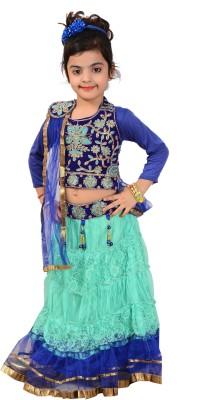 P.R. Creation Embroidered Girl's Ghagra Choli