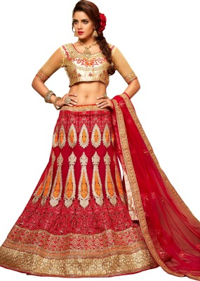 Aasvaa Embroidered Women's Lehenga, Choli and Dupatta Set(Stitched) at flipkart