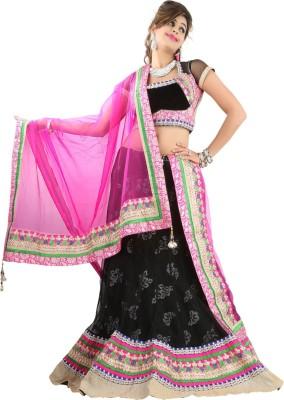 Aagamanfashion Self Design Women's Lehenga, Choli and Dupatta Set