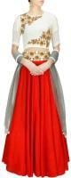 Sapt Rang Fashions Chaniya, Ghagra Cholis - Sapt Rang Fashions Embroidered Women's Lehenga, Choli and Dupatta Set(Stitched)