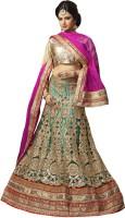 Saara Chaniya, Ghagra Cholis - Saara Embroidered Women's Lehenga, Choli and Dupatta Set(Stitched)
