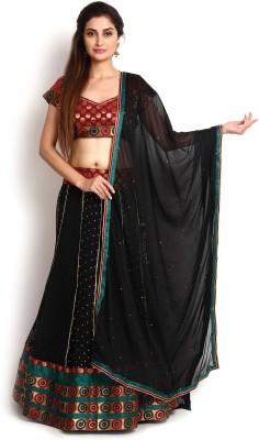 Kasturi-B Swadeshi Karigari Self Design Women,s Lehenga, Choli and Dupatta Set