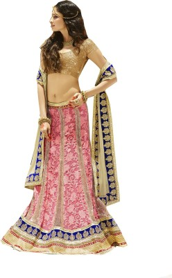 Rajhans Fashion Embroidered Women's Lehenga, Choli and Dupatta Set