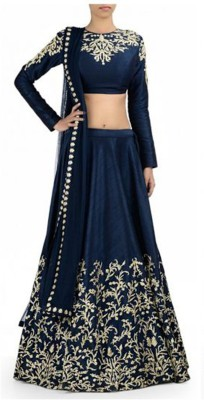 Style World Embroidered Women's Lehenga Choli(Stitched) at flipkart