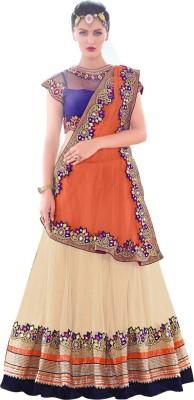 Jassu Fashion Hub Embroidered Women's Lehenga, Choli and Dupatta Set