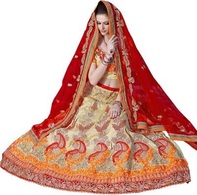 Vbuyz Embroidered Women's Lehenga, Choli and Dupatta Set