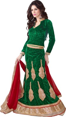 Aastha Sarees Embellished Women's Lehenga, Choli and Dupatta Set