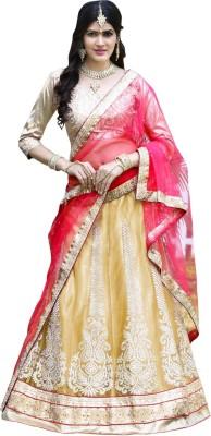 Aagaman Fashion Self Design Women's Lehenga, Choli and Dupatta Set