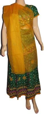 Style Shells Embroidered Women's Lehenga, Choli and Dupatta Set