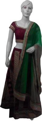 Aarzoo Self Design Women's Lehenga, Choli and Dupatta Set