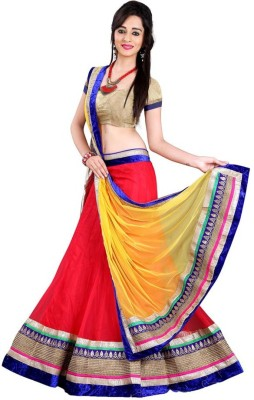 MusicMania Embroidered Women's Ghagra, Choli, Dupatta Set