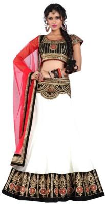 Mert India Embroidered Women's Lehenga, Choli and Dupatta Set