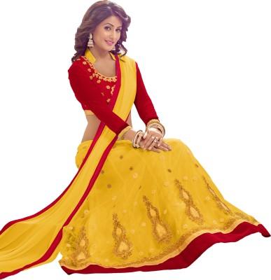 Today Deal Embroidered Women's Lehenga, Choli and Dupatta Set