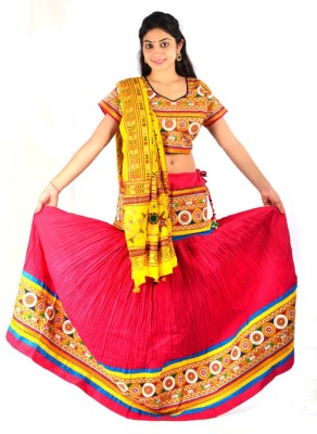 Styleincraft Embroidered Women's Lehenga, Choli and Dupatta Set