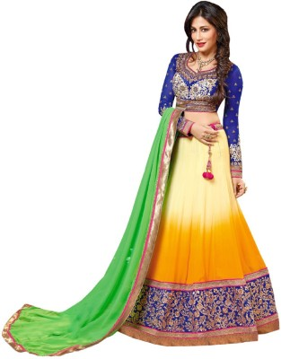 Resham Fabrics Self Design Women's Lehenga, Choli and Dupatta Set