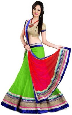 Khushi Fashions Embroidered Women's Lehenga, Choli and Dupatta Set