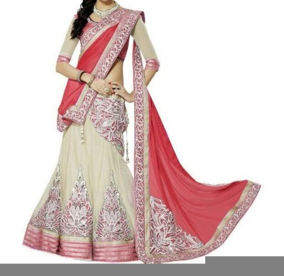Orange Lifestyle Embroidered Women's Lehenga Choli