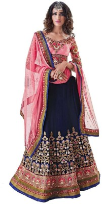 Hari Krishna sarees Self Design Women,s Lehenga, Choli and Dupatta Set