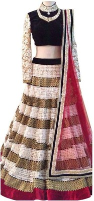 Rozdeal Embroidered Women's Lehenga, Choli and Dupatta Set