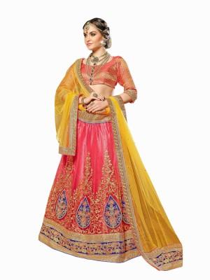 Aasvaa Embroidered Women,s Lehenga, Choli and Dupatta Set