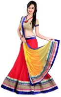 Akshit Creation Chaniya, Ghagra Cholis - Akshit Creation Self Design Women's Lehenga, Choli and Dupatta Set(Stitched)