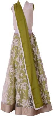 Aggana Embroidered Girl's Lehenga, Choli and Dupatta Set