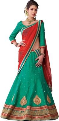 Melluha Fashion Self Design Women's Lehenga, Choli and Dupatta Set