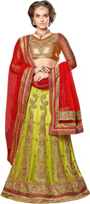 Manvaa Self Design Womens Lehenga, Choli and Dupatta Set