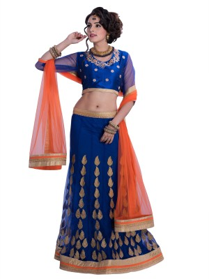 Rue Boutique Embroidered, Embellished Women's Lehenga, Choli and Dupatta Set