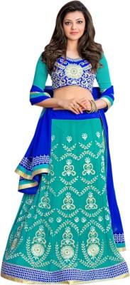 Silkbazar Embroidered Women's Lehenga, Choli and Dupatta Set