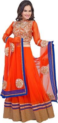 Aarnas Fashion Embroidered Women's Lehenga, Choli and Dupatta Set
