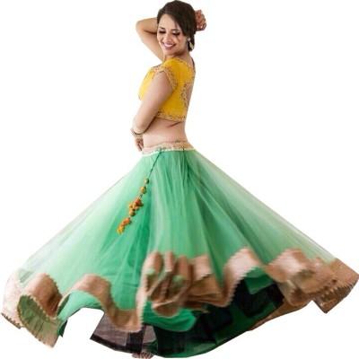 Nena Fashion Solid Women's Ghagra, Choli, Dupatta Set