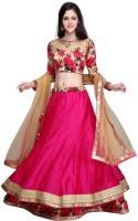 Trendz Fashion Chaniya, Ghagra Cholis - TRENDZ FASHION Polka Print, Printed, Floral Print Women's Lehenga, Choli and Dupatta Set(Stitched)