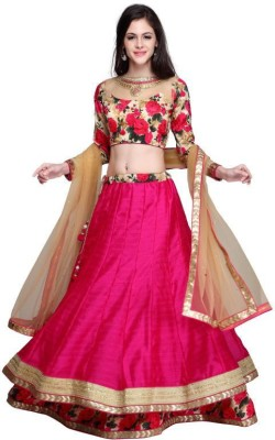 TRENDZ FASHION Polka Print, Printed, Floral Print, Graphic Print Women's Lehenga, Choli and Dupatta Set
