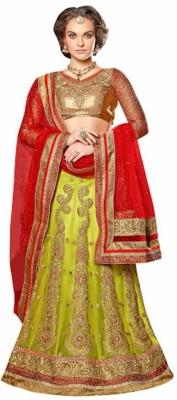 StyleWorld Embroidered Women's Lehenga, Choli and Dupatta Set