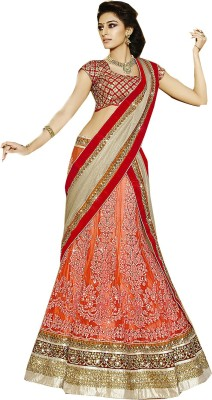 Rajhans Fashion Embroidered, Embellished Women's Lehenga, Choli and Dupatta Set