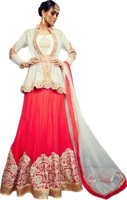Saree Exotica Embroidered Women's Lehenga, Choli and Dupatta Set