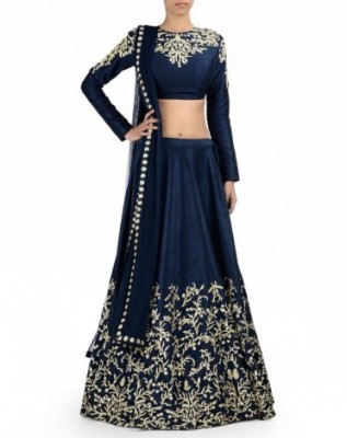 Shourya Creation Embroidered Women's Lehenga, Choli and Dupatta Set