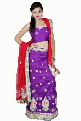 Tehzeeb Self Design Womens Lehenga Choli