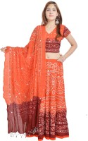 Sunshine Chaniya, Ghagra Cholis - Sunshine Self Design Women's Lehenga, Choli and Dupatta Set(Stitched)