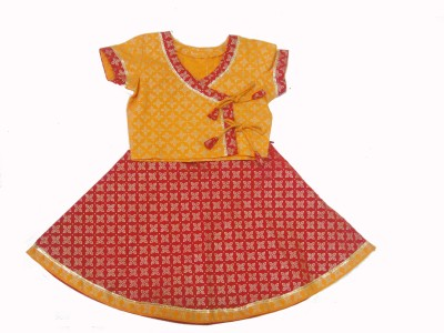 Exclusive from Jaipur Printed Baby Girl's Ghagra Choli