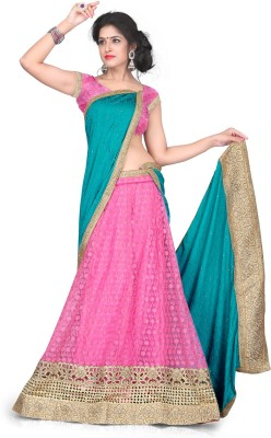 Aastha Sarees Self Design Women's Lehenga, Choli and Dupatta Set
