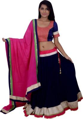 Cotton Ride Self Design Women's Lehenga, Choli and Dupatta Set