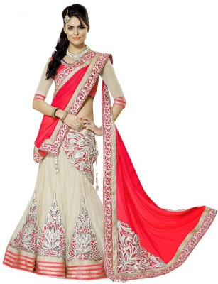 Jp Enterprise Embroidered Women's Lehenga, Choli and Dupatta Set