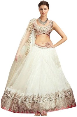 Alankarcreations Embroidered Women's Lehenga, Choli and Dupatta Set