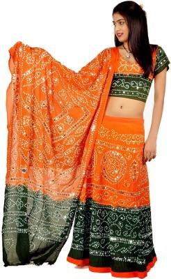 Tradition India Printed Women's Lehenga, Choli and Dupatta Set